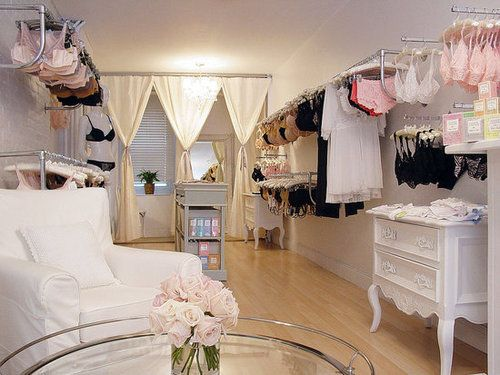 My stepmom wants to have a lingerie boutique and this is an adorable idea!