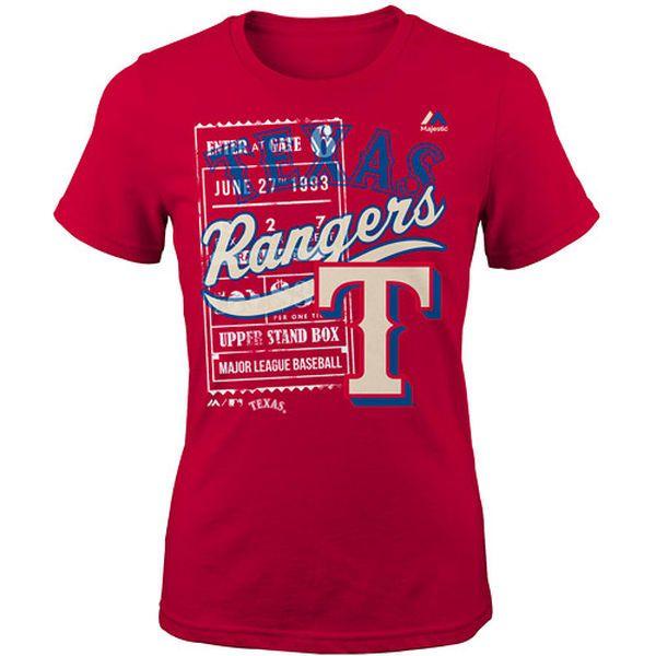Texas Rangers Majestic Youth Girls Terrorizing Play T-Shirt - Red - $19.99