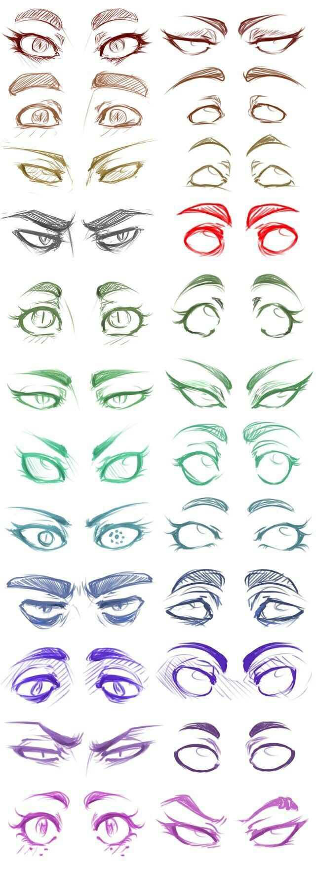 Homestuck Trolls// Beta's and Alpha's// Eye drawings