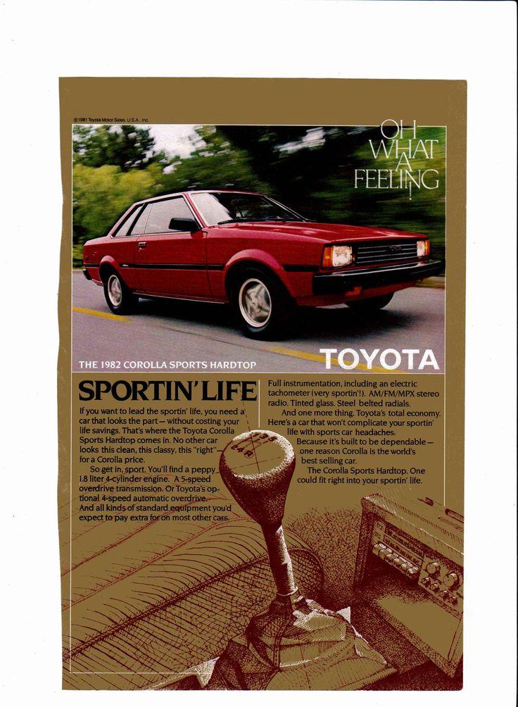 1982 Toyota Corolla Sports Hardtop ad National Geographic