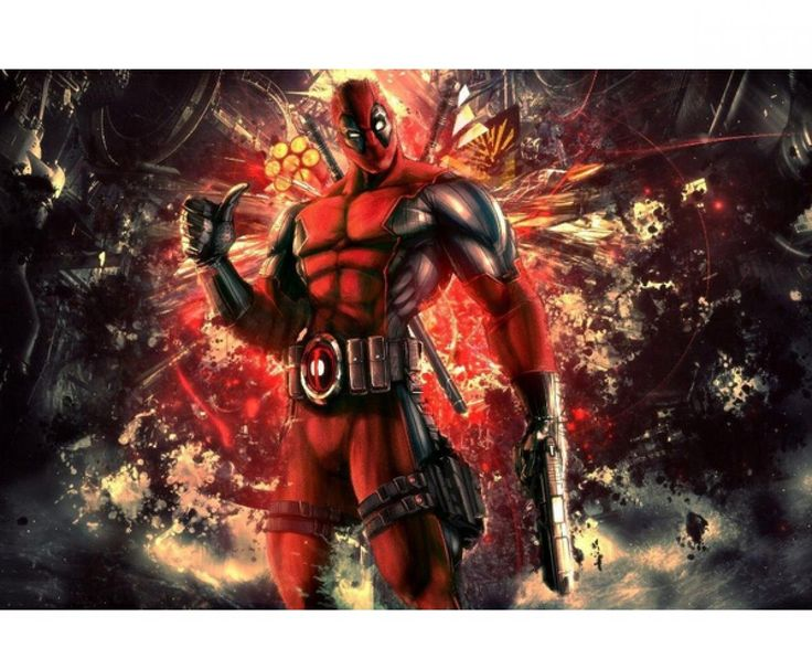 Yellowday MARVEL SUPERHERO DEADPOOL HD 50x75cm Wall Poster For Wedding Festival Home Decoration Custom Popuar Wall Sticker