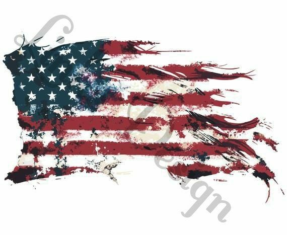 Tattered American Flag Usa Waterslide Decal For Tumblers Etsy In 2021 American Flag Drawing American Flag Art Flag Drawing
