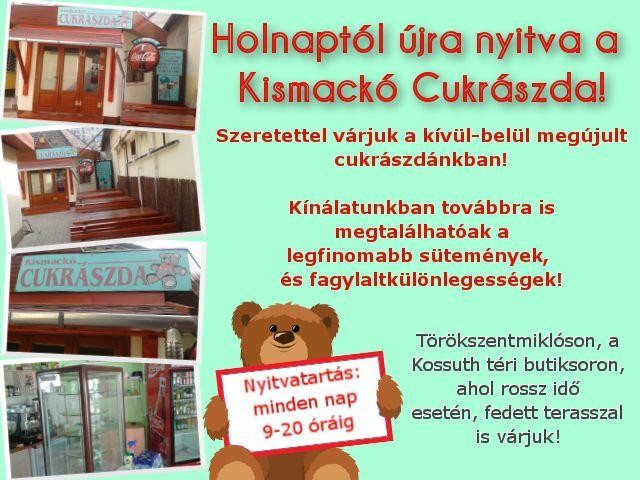 03.28-tól újra nyitva! #popeye #pizzeria #kismacko #fagyi #fagylalt #nyitvavasarnapis