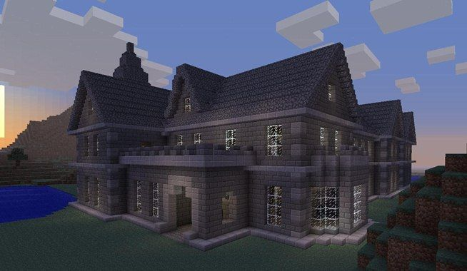 LizC864 Minecraft: I copied this house from this pic for my server that I'm starting someday & it came out GREAT! Mount Falcon Manor House in Minecraft « Minecraft