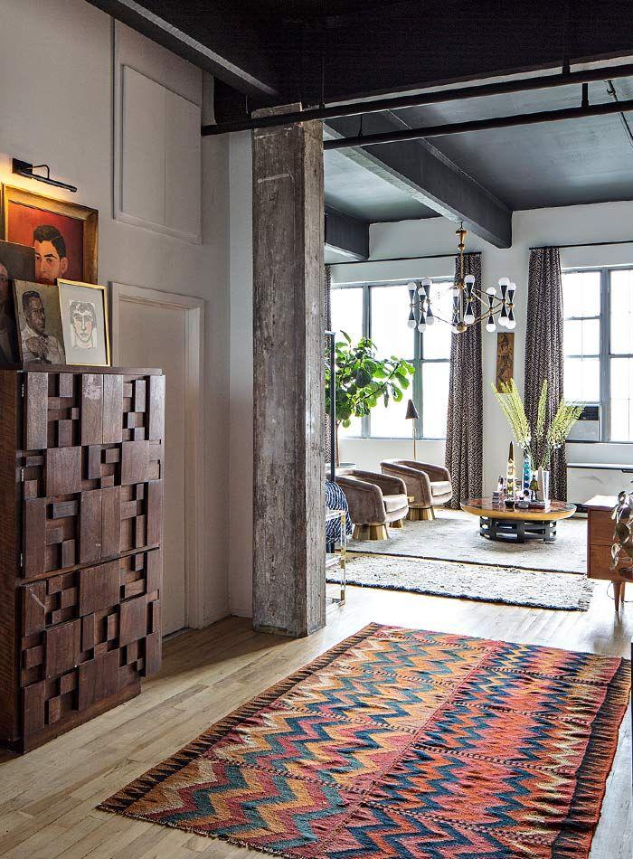 The Brooklyn loft of Jonathan Adler's Director of Interiors, Benjamin Brougham, featured on Design Sponge.