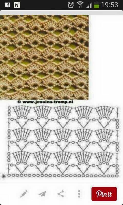 Shawl patroon