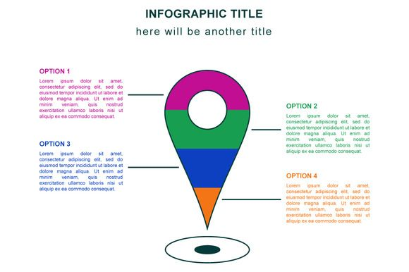 Map pointer infographic ~ Illustrations on Creative Market