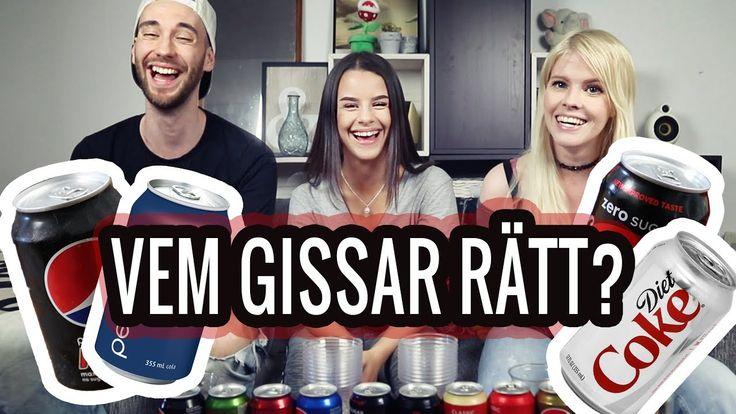 """Gissa Colan - Det stora Cola testet!   Emma och Konrad  Idag testar Emma och Konrad olika cola smaker med förbundna ögon för att kunna gissa vilken läsk som är vilken. Vem har bast smak? Bella Lupascu ar dagens domare!  Kolla in videon """"Glass Challenge"""" som vi gjorde på Bellas kanal och ge henne lite kärlek: https://m.youtube.com/watch?v=a_akYJy4o38  Prenumerera på oss för galna vlogg-äventyr från vardag till våra resor. Vi kommer även göra roliga challenges och storytimes och massa galna…"""
