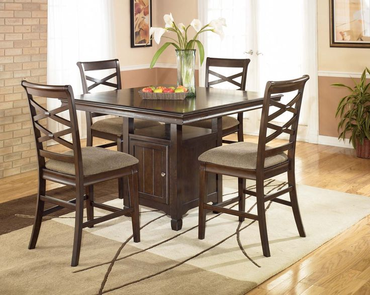 hayley 5pc square counter height table set