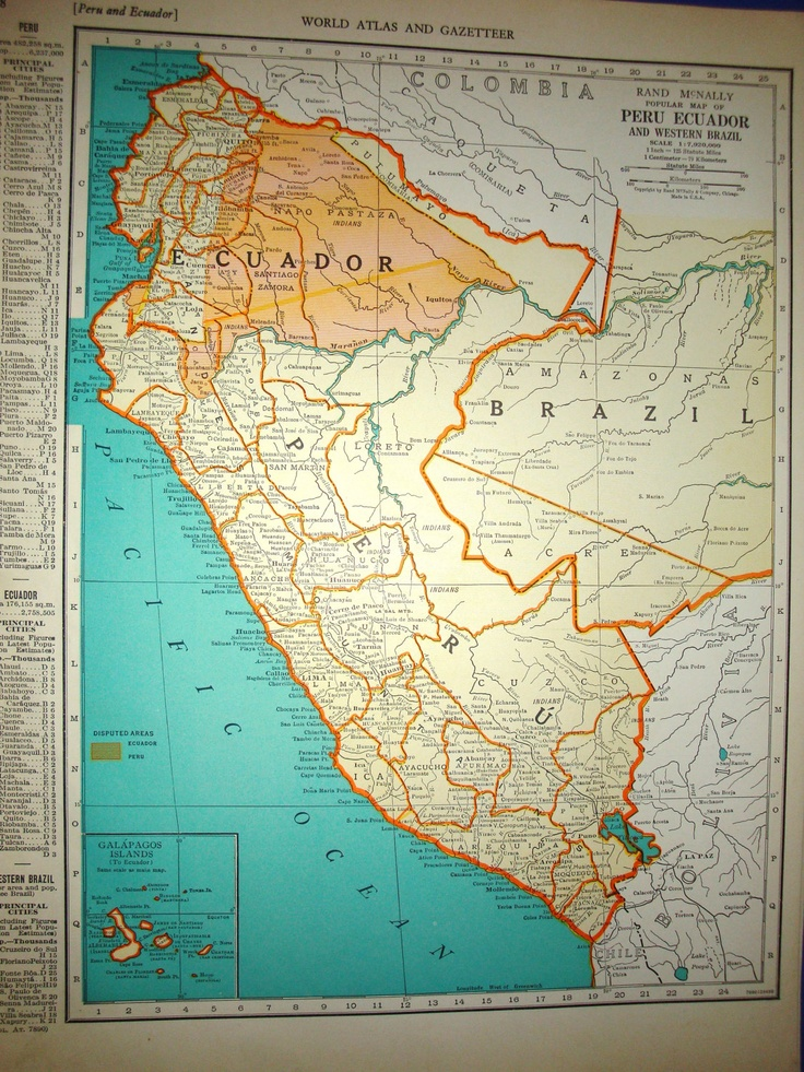 12 best south american inspiration images on pinterest peru 1939 peru ecuador atlas map by oddlyends on etsy gumiabroncs Choice Image