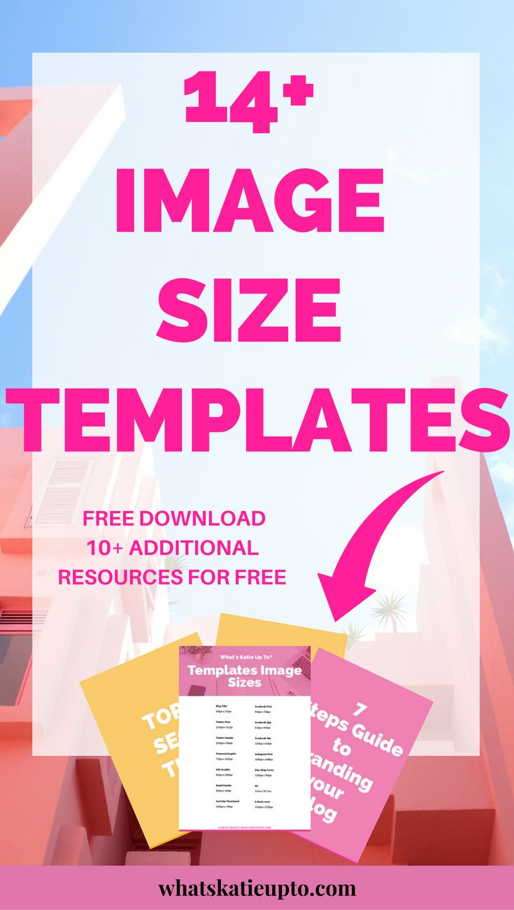 Download 14 Image Size Templates which will help your build your Blog & Website in Minutes! Access my Free Resource Library Now & start creating beautiful Image Templates NOW! | Blogging Tips, Image Templates, Free Template download, Blog Advice, Canva Templates | #bloggingtips #imagetemplates #freedownload #blogadvice |