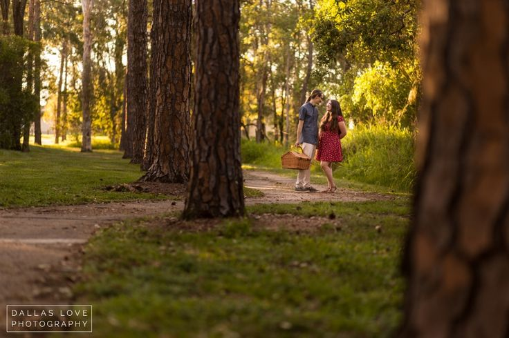 Picnic Engagement Couples Session in the Park» Dallas Love Photography