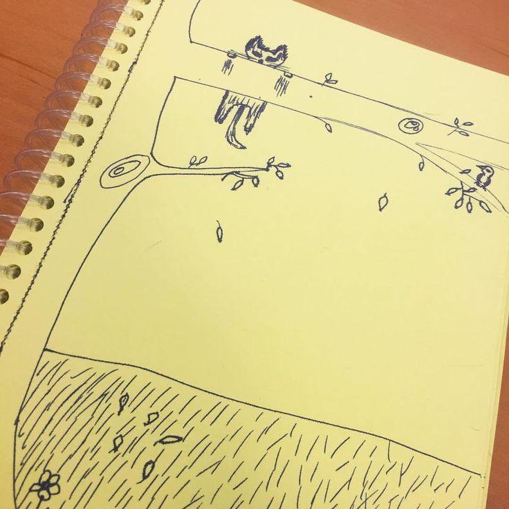 Bir kedi gördüm sanki vol2 #art #artwork #arttherapy #bird #cat #drawing #gadu #duvar #hobby #çizim #toplantı #kedi #kuş #meeting #therapy #terapi #cats #catlover #drawingcats #karalama #amatör #tree #ağaç #yaprak #leaf #çiçek #flower
