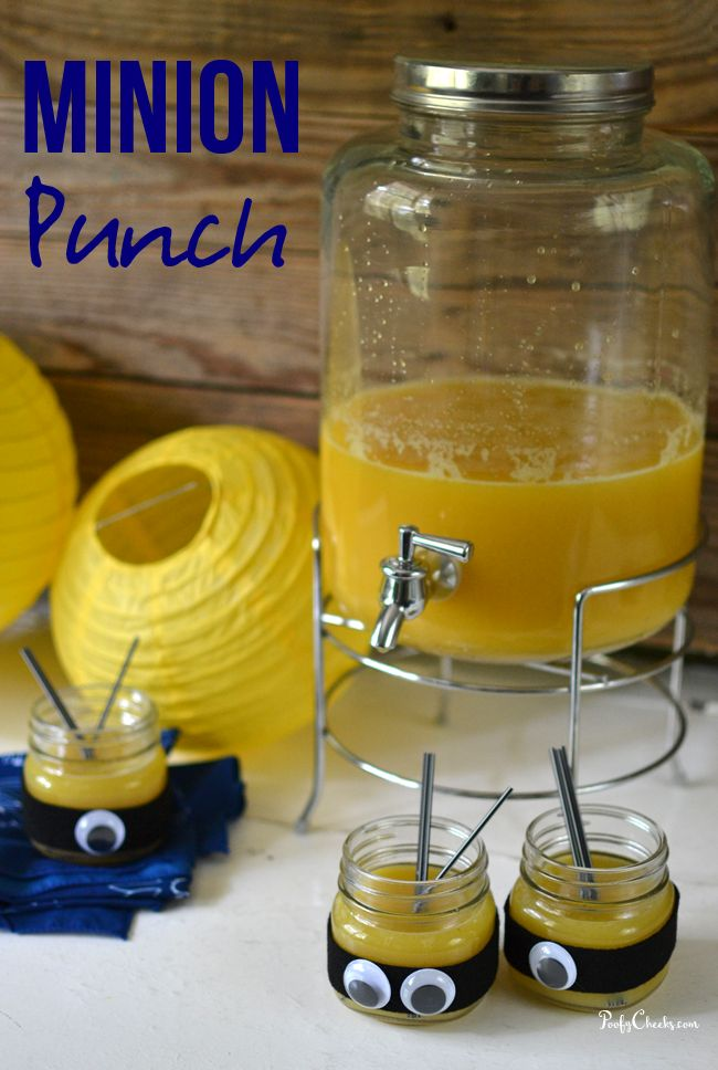 Minions Movie Punch - yellow punch for a Minions party! #MinionsMovieNight AD