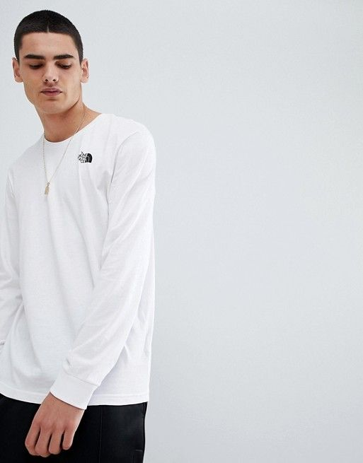 f6ccc6bff The North Face Long Sleeve Simple Dome T-Shirt in White | Elliott ...