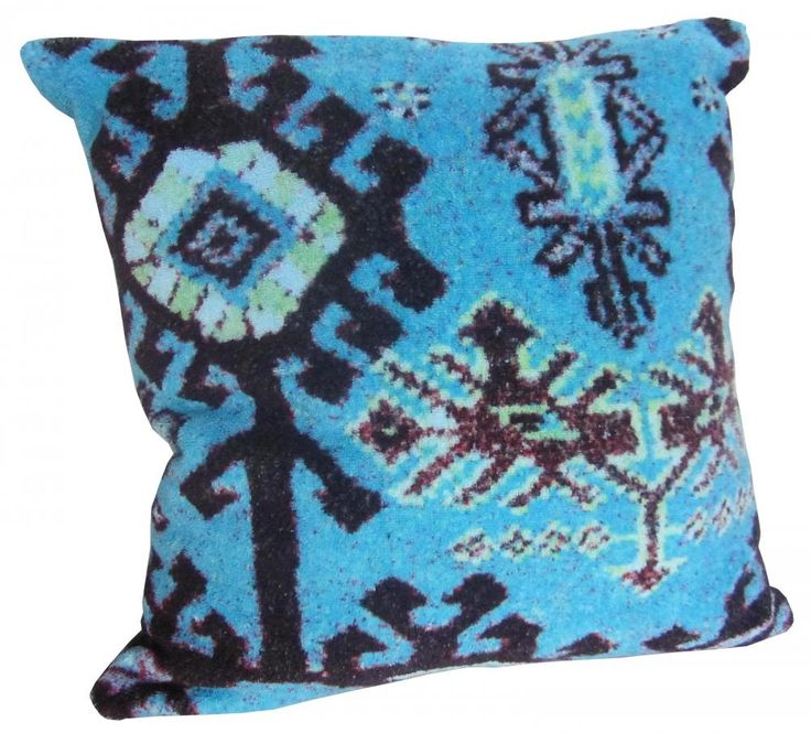 Aztec Blue - Small Pillow Cover