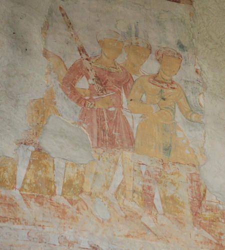 Fresco of Crusader Infantry