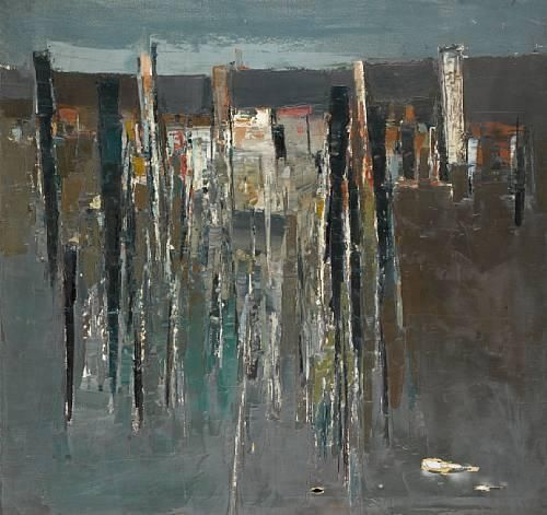 Paul Feiler - City Shapes I, oil on canvas on MutualArt.com