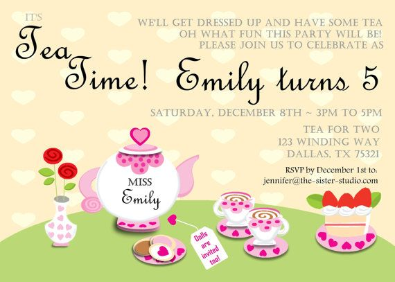 8 best Dolly and Me Tea Party images on Pinterest Tea party - best of invitation for 1st birthday party free