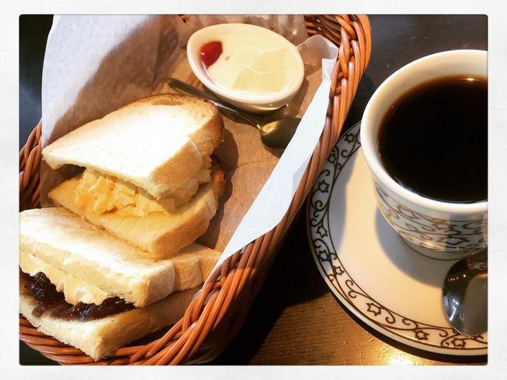 #元町ブレンド #サンドイッチモーニングセット #元町珈琲