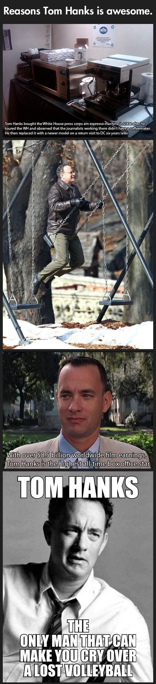 Why Tom Hanks is awesome… nobody outside my family will ever understand why Tom Hanks is all of our favorites actors