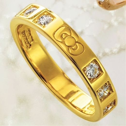 SANRIO Hello Kitty precious ring Eternity Gold accessory gift present Japan 61B