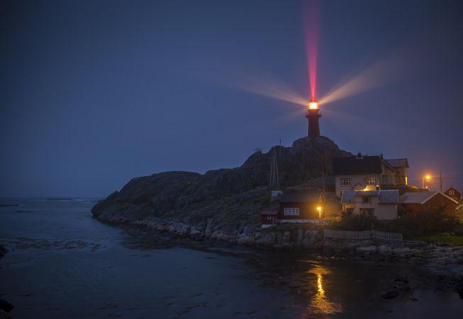 Night at the lighthouse by John Einar Sandvand