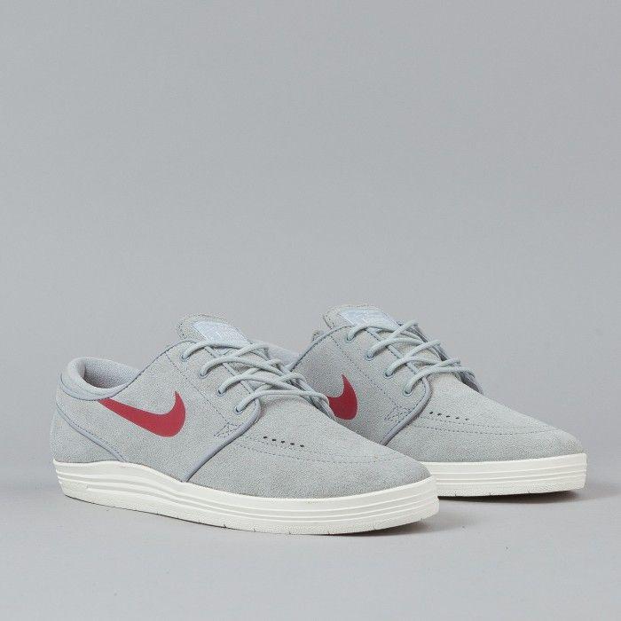 0c61f610427e Nike SB Lunar Stefan Janoski Shoes Wolf Grey   Gym Red - Sail ...