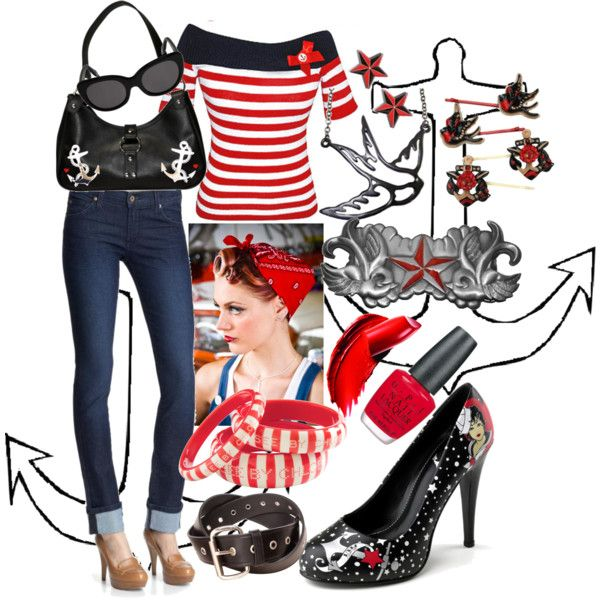 """Rockabilly Nautical"" by lizler on Polyvore"