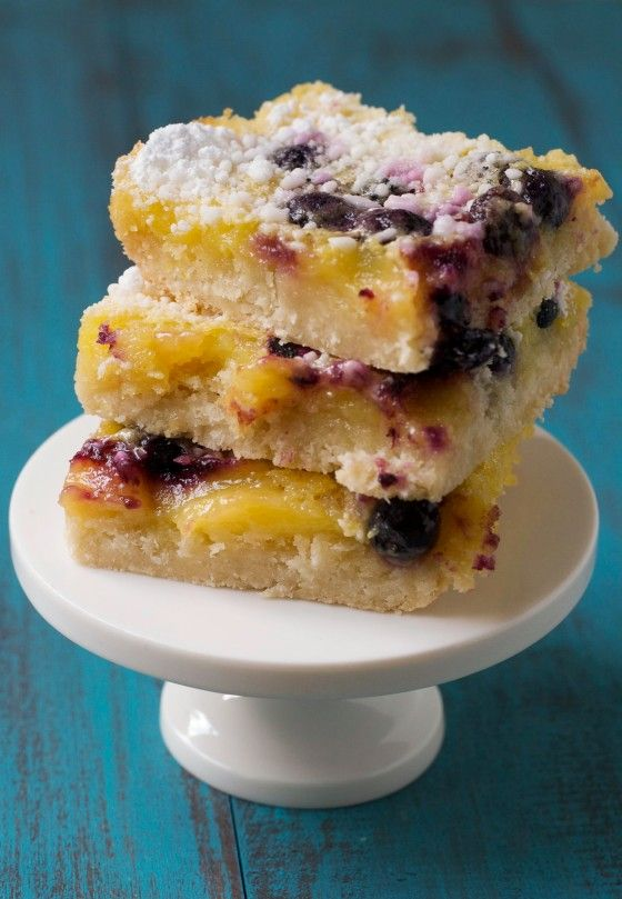 ok..relatively healthy...Lemon Blueberry Bars - Gluten Free  I LOVE lemon bars, I would sub the granulated sugar for coconut palm sugar, and the butter would be organic butter or coconut butter-but other than that, these look like a decadent yet healthy treat.