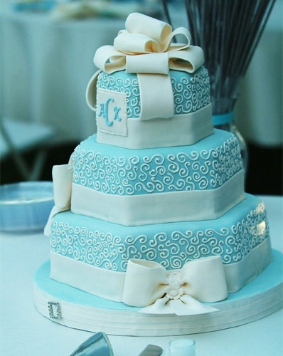 Tiffany Blue Wedding Cake By Sweet Cakes By Rebecca