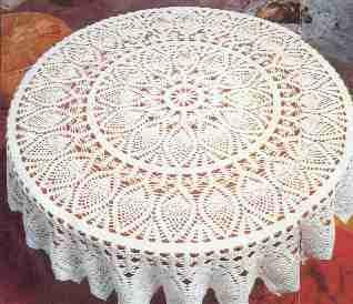 Hermoso mantel de piñas tejido a crochet con patrón gratis Mantel tejido a ganchillo paso a paso OjoconelArte.cl |