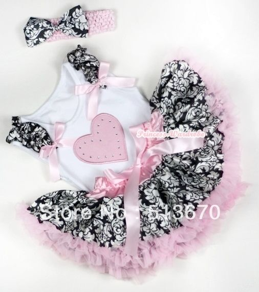 Дамаск детские юбка розовое в форме сердца рюшами с бантом топ и светло-розовый повязка на голову дамаск атласный бант MANG1155