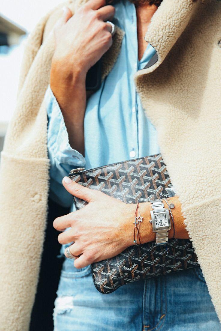 Transitional dressing #fall #blue #goyard       xoSocialite