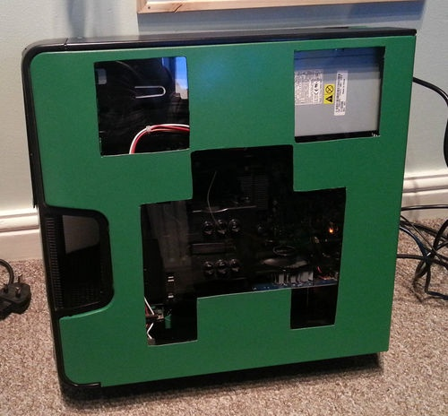 For Minecraft Pc Game Case : Custom minecraft creeper pc case cases i want pinterest