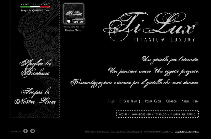 """#GIOIELLI IN #TITANIO PURO, MADE IN ITALY  """"TiLux  - TITANIUM LUXURY"""" - Un gioiello per l'eternità. Un pensiero unico. Un oggetto prezioso. Personalizzazione estrema per il gioiello che vuoi donare.  http://www.titaniumluxury.it"""