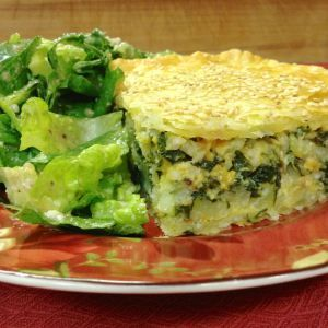 Cheddar Vegetable Pie ~ a double crusted pie, filled with vegetables, cheese & rice, bound together with a zesty egg mix.  Vegetarian, and good to go!