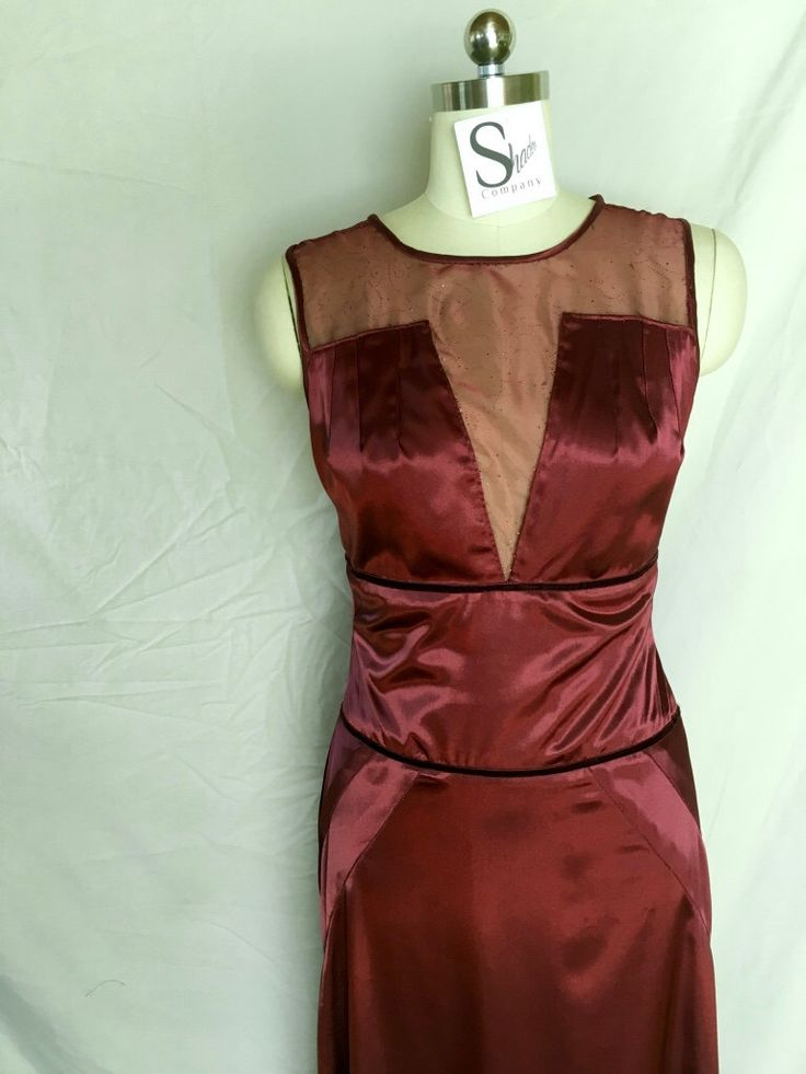 Burgundy Gown. Appropriate for evening wear.  A personal favorite from my Etsy shop https://www.etsy.com/listing/232187405/burgundy-gown-burgundy-prom-dress-v-neck