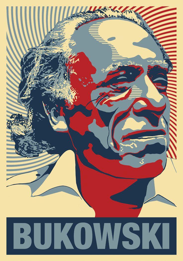 Charles Bukowski -  Poet, Writer, Drunk  -  a Poster Hommage. $15.99, via Etsy.