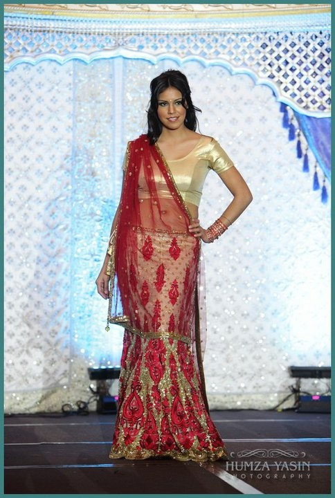 Red and Gold Manish Malhotra lengha