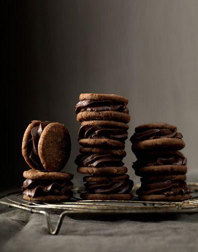 Chocolate Sandwich Cookies - food stylist Linda Lundgren