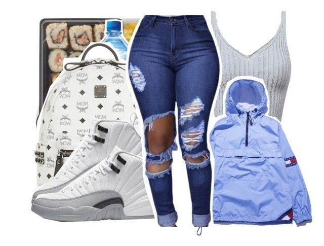 """""""Goodnight"""" by pinksemia ❤ liked on Polyvore featuring MCM, Champion and Tommy Hilfiger"""