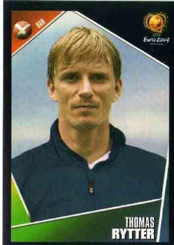 Thomas Rytter of Denmark. Euro 2004 card.