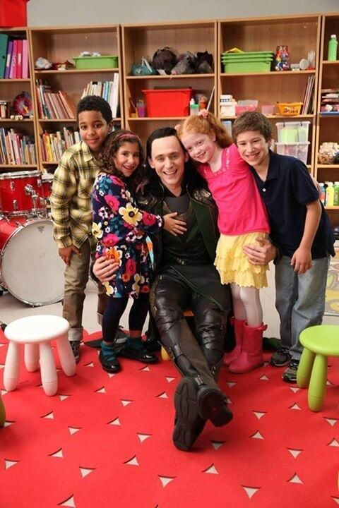 The cuteness is overwhelming. Loki (Tom Hiddleston) on Comedy Central.