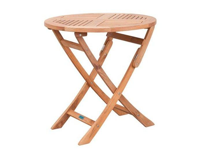 Inspirational Exotan Comfort Gartentisch rund u klappbar Teak cm