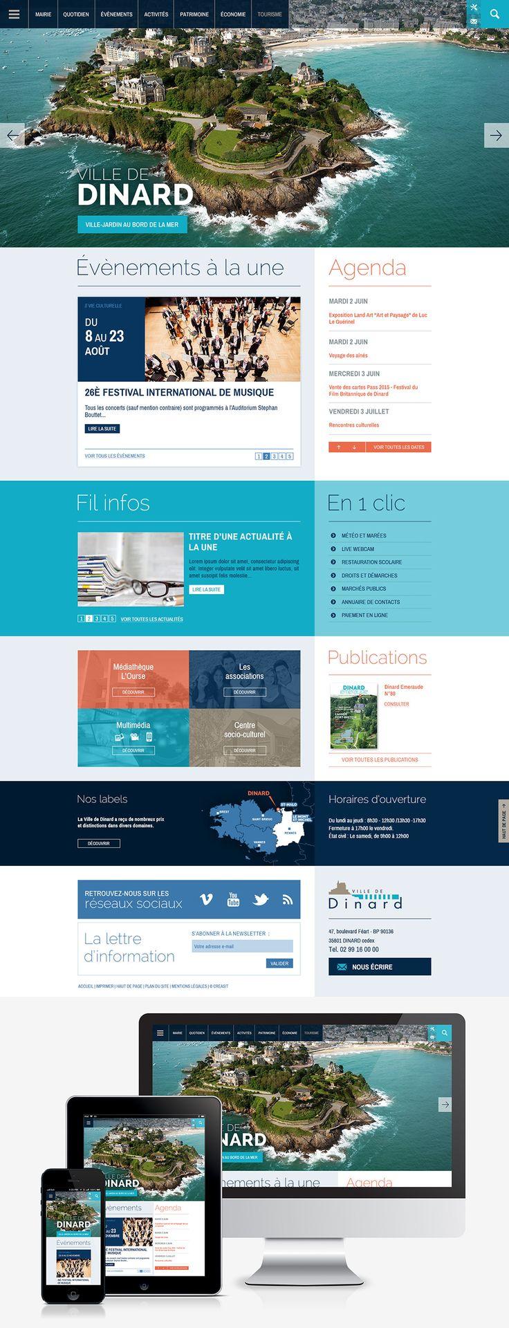Refonte du site internet de la ville de dinard 35 web for Site web de houseoftheweek