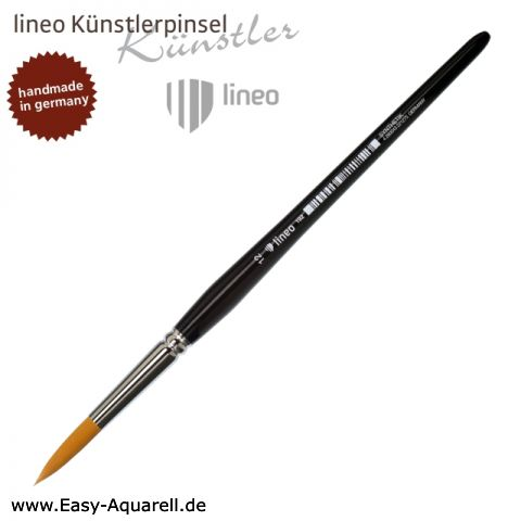 lineo Serie 192, Aquarellpinsel rund, spitz, Toray Synthetik