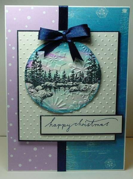 .Stampscapes Stamps, Cards Christmas, Christmas Stamps Cards, Diy Christmas Cards Ideas, Christmas Baubles, 3D Christmas Cards, Cards Crafts, Paper Crafts, Stampscapes Cards