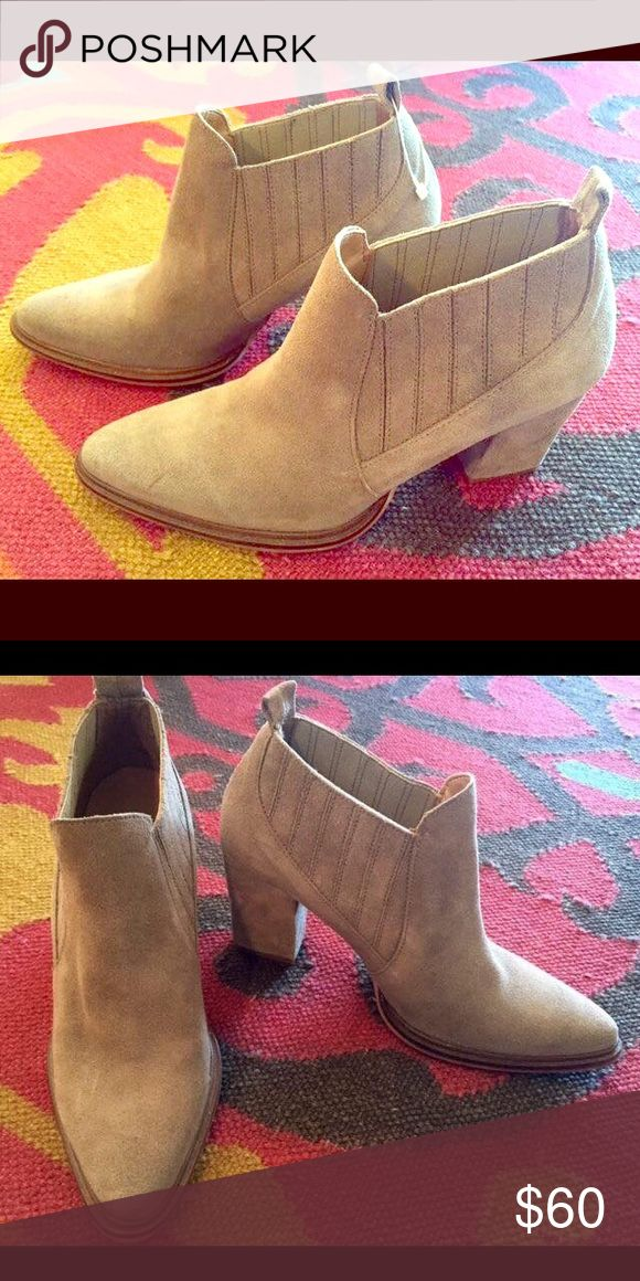 Zara women's booties Only worn once. In great condition, like new! Zara Shoes Ankle Boots & Booties