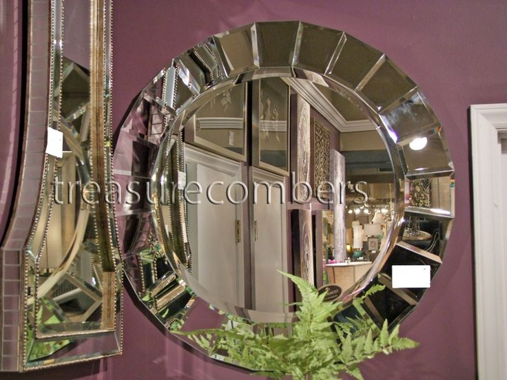 Uttermost // Glamour Round Frameless Wall Mirror   $327 @ TREASURE COMBERS
